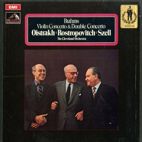 GB EMI ASD2525-2526 オイストラフ、ロストロポーヴィッチ&セル ブラームス・ヴァイオリン協奏曲&二重協奏曲