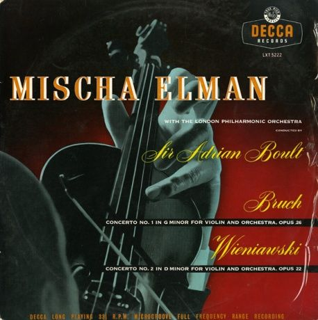 GB DECCA LXT5222 エルマン&ボールト ブルッフ・ヴァイオリン協奏曲1番/ヴィエニャフスキ・ヴァイオリン協奏曲2番