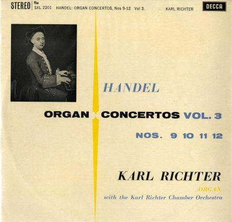 GB  DECCA  SXL2201 リヒター  ヘンデル・オルガン協奏曲