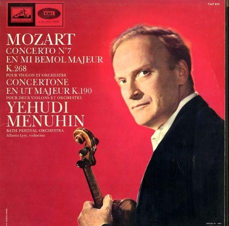 FR VSM FALP830 メニューイン モーツァルト・ヴァイオリン協奏曲