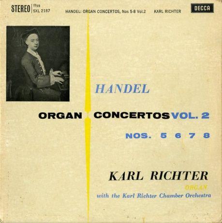 GB DECCA SXL2187 カール・リヒター ヘンデル・オルガン協奏曲集 VOL.2