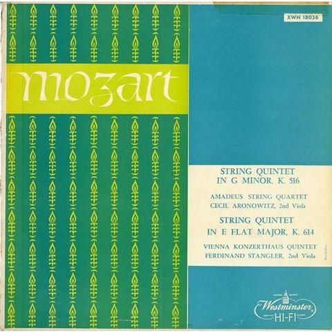 US WESTMINSTER  XWN18036 アマデウスSQ & ウィーン・コンツェルトハウスSQ モーツァルト・弦楽四重奏曲