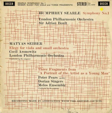 GB DECCA SXL2232 エイドリアン・ボールト ハンフリーサール・交響曲1番/シャイバー・エレジー