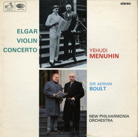 GB EMI ASD2259 ユーディ・メニューイン エイドリアン・ボールト ニュー・フィルハーモニア管 エルガー・ヴァイオリン協奏曲