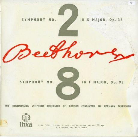 GB nixa WLP5362シェルヘン ベートーヴェン・交響曲2&8番