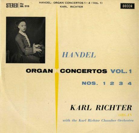 GB DECCA SXL2115 カール・リヒター ミュンヘン・バッハ室内管 ヘンデル・オルガン協奏曲第1番〜4番
