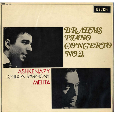 GB  DECCA  SXL6309 アシュケナージ&メータ  ブラームス・ピアノ協奏曲2番