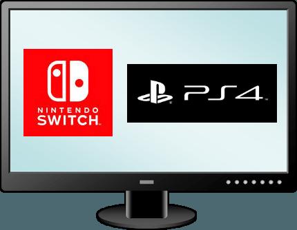 ニンテンドースイッチ-PS4-モニター-イラスト