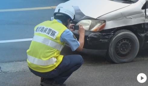 【動画】「すごい音がした」 パトカーがまさかの自損事故  鹿児島弁がすごい動画ありwww