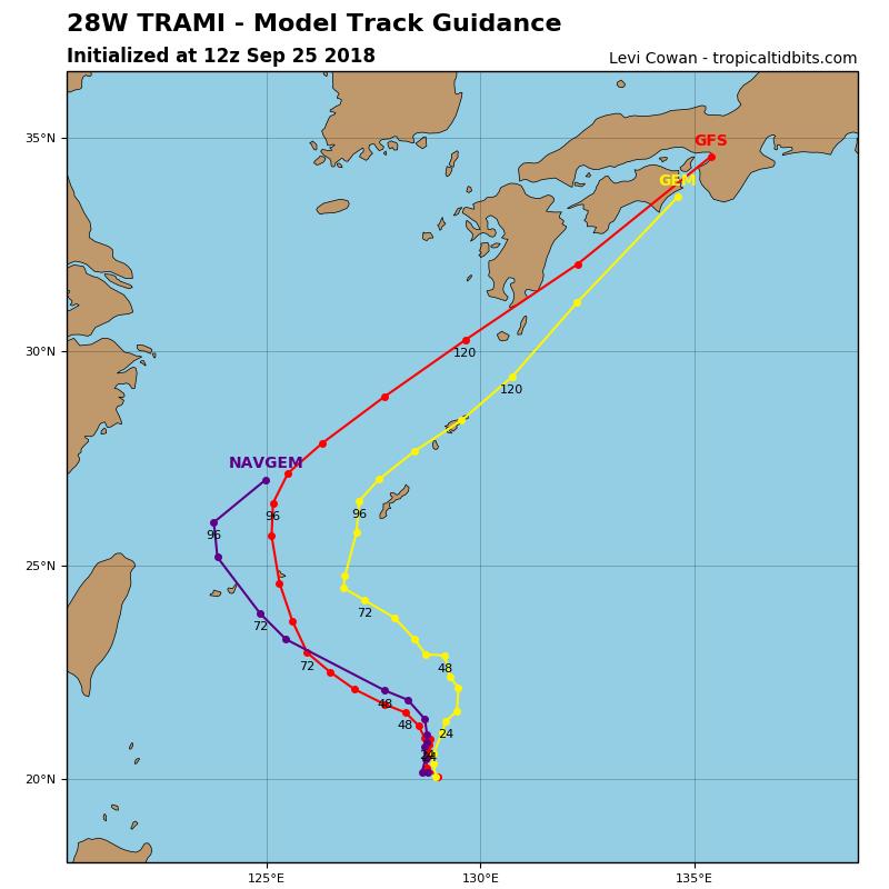 【警戒】台風24号(チャーミー)26日に沖縄の南に接近か 「猛烈」に発達へ