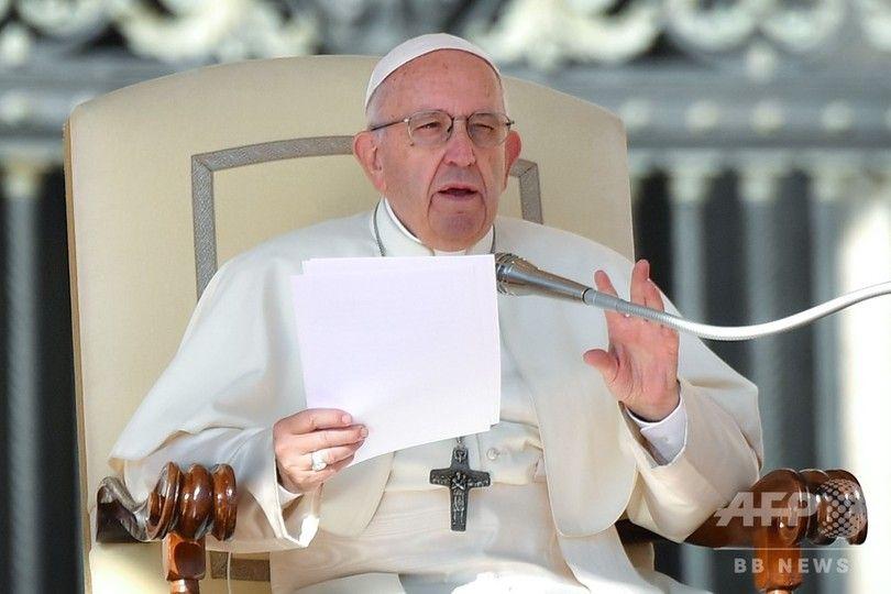 ローマ法王が妊娠中絶をにお怒り 「1人の人間を消し去ることは問題の解決を殺し屋に頼るのと同じこと」