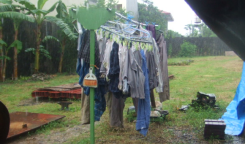 夫「ねー雨降ってるよ!洗濯物干しっぱなしでいいの!?取り込まないのー!?」奥さん「馬鹿なのー?」