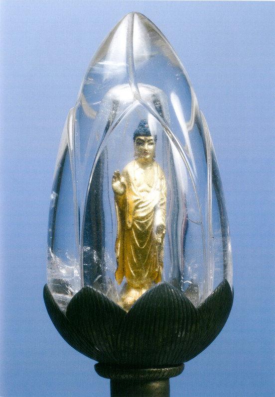 【画像】これはすごい!水晶の中に阿弥陀如来像 鎌倉時代に作られた超貴重な如来像初公開