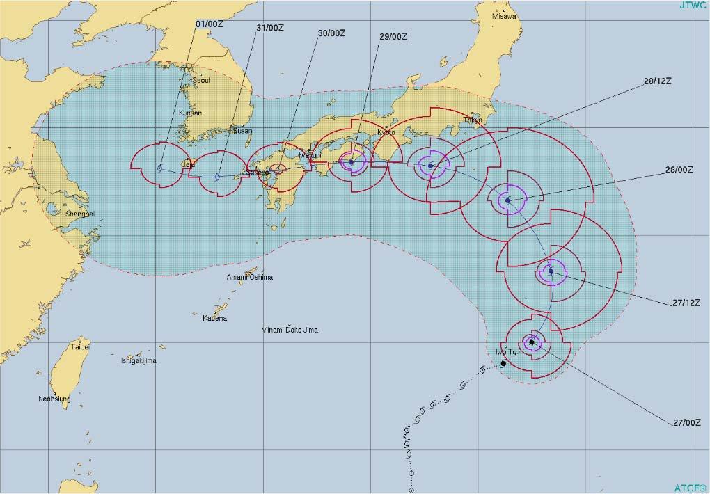 こんなことってあるの? 「台風12号」の今回の動きが前代未聞すぎたと在日米軍もびっくりツイートwwww
