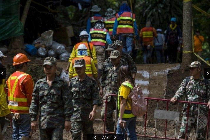 【朗報】タイ洞窟の子供、数日の練習でプロダイバーが6時間かけ潜った洞窟を約8時間で脱出