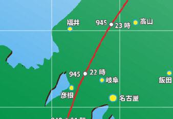 【悲報】台風21号さん、940hPaに衰退