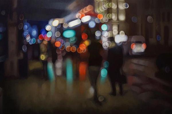 【衝撃】近視の人が見る世界を再現した油絵が話題に