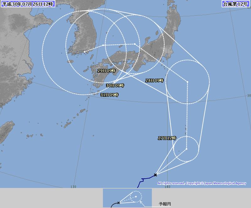 【悲報】台風さん、西日本を見逃さない