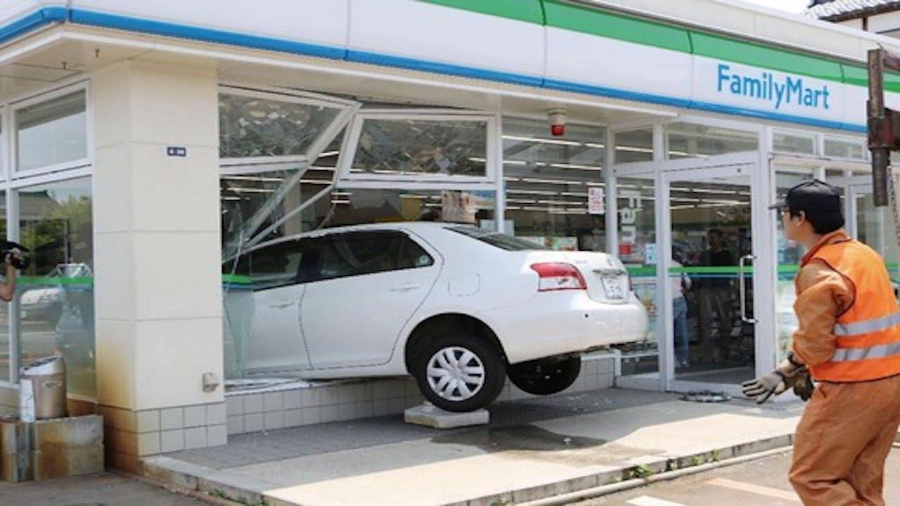 【高齢者 同時多発テロ】ほぼ同時間に岐阜と愛知のファミマにそれぞれジジババが運転する車突っ込む