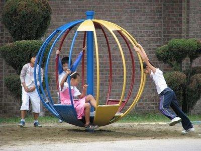 Korean Kids Playing
