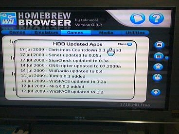 Homebrew Browser ver 0.3.8 (3)