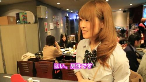 Cross-dressing Japanese Maid