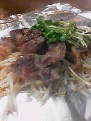 国産牛スジ肉の塩炒め