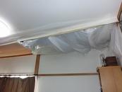 天井落下後の処置