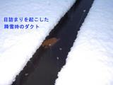 目詰まりを起こした降雪時のダクト