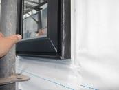 5.窓周りの防水テープ施工と通気シート施工