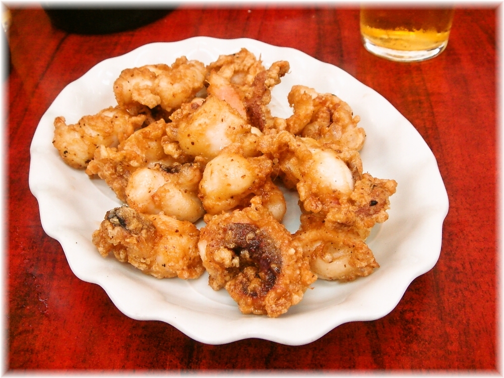 中華料理日の出 タコのフライ