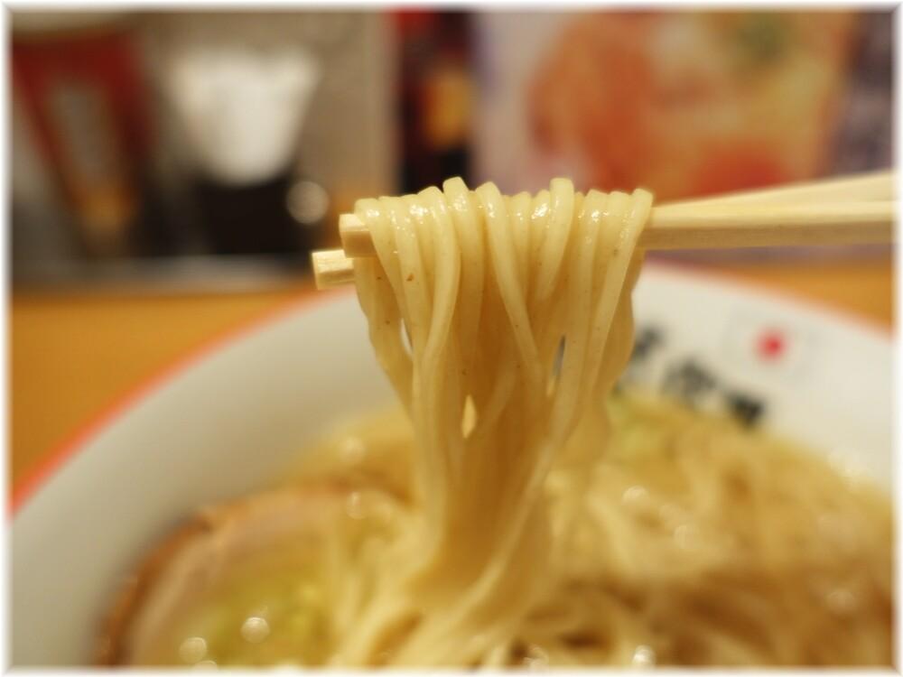 鬼そば藤谷 鬼塩ラーメン味玉入りの麺