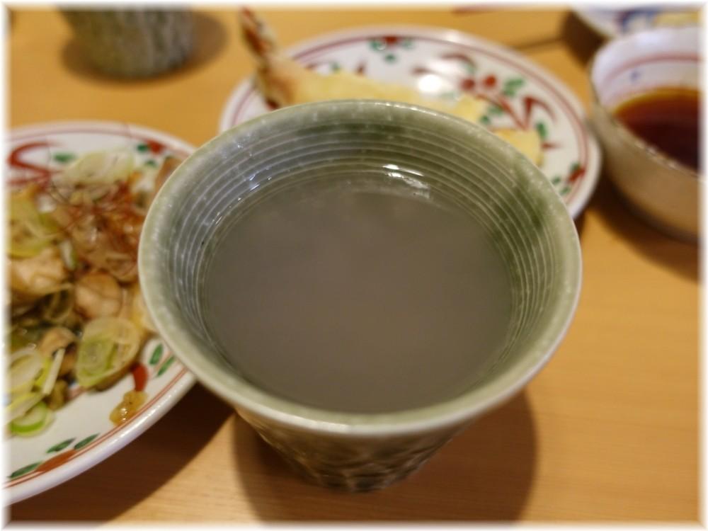 肉そば 鶏中華 最上川 焼酎の蕎麦湯割り