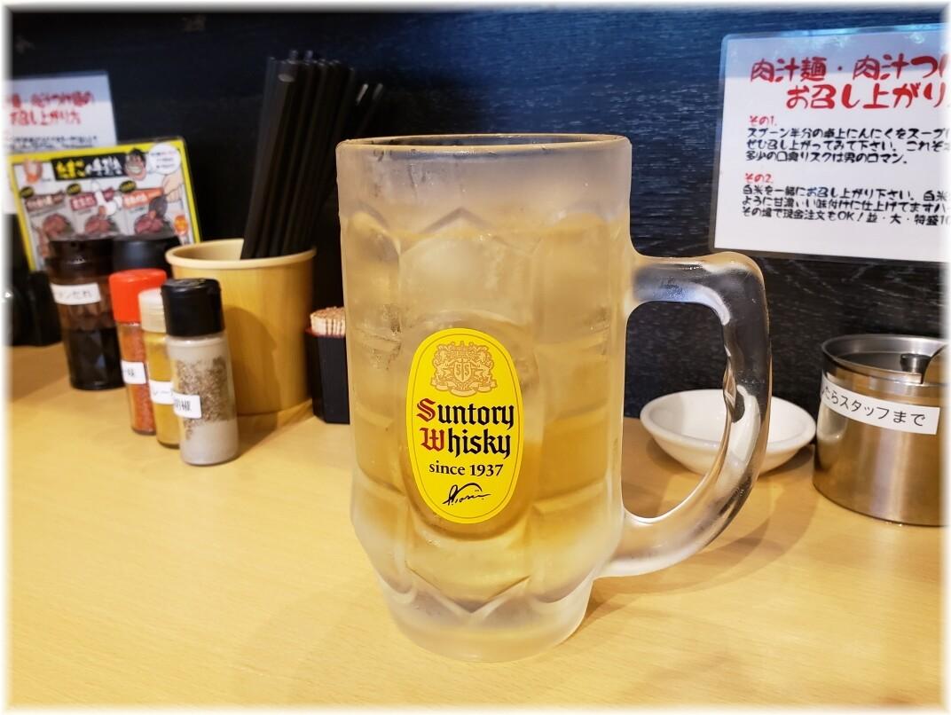 肉汁麺ススム新橋店 角ハイボール