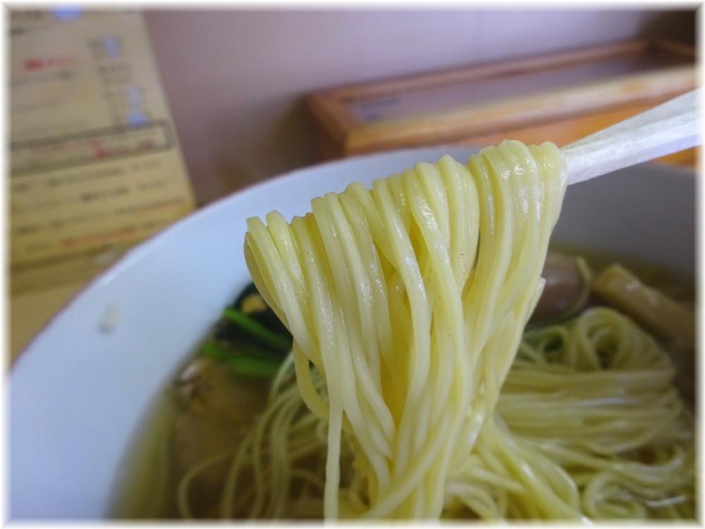 心麺 塩ラーメン+味玉+白メンマの麺