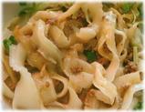 西安(XI'AN) 炸醤麺(ジャージャー麺式刀削麺)の麺