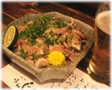 銀座ほんじん(博多もつ鍋) 地鶏のタタキ