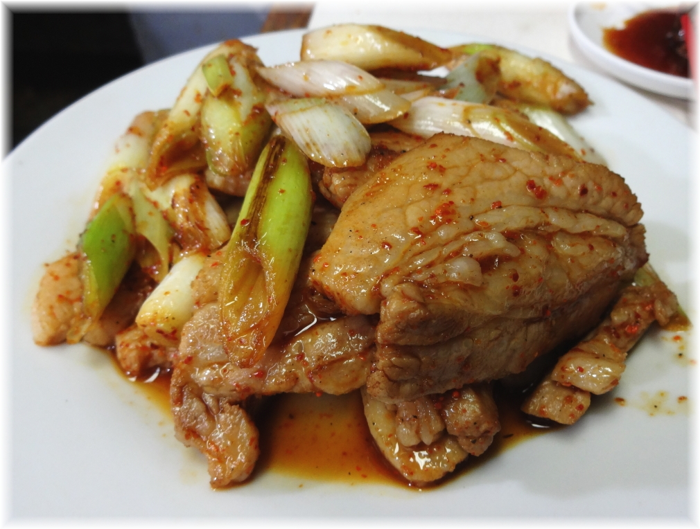 中華三陽 豚バラ肉ネギ炒め