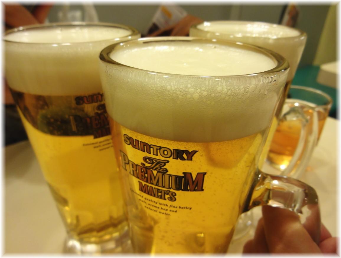桂花新宿末広店 ビールで乾杯