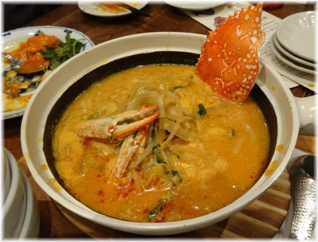 三宝亭 渡り蟹の砂鍋麺