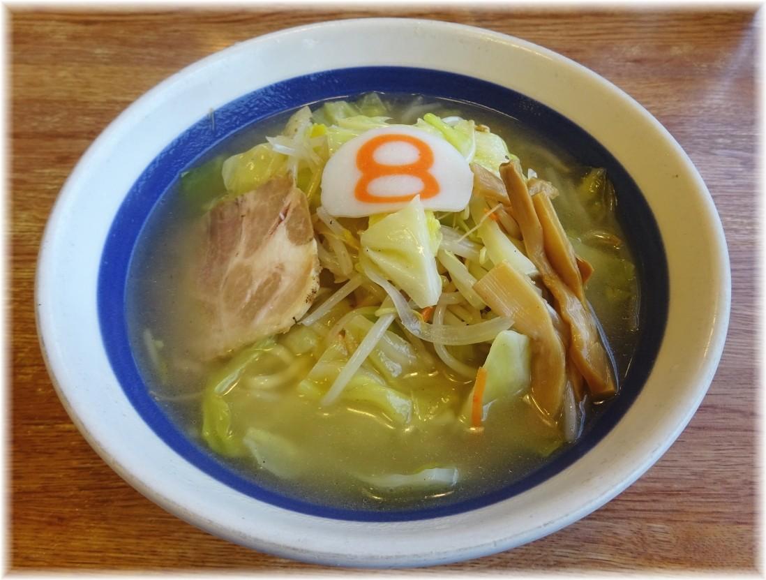 8番らーめん 野菜らーめん(塩味)