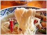 揚州商人北山田店 牛肉のあっさり激辛ラーメンの柳麺