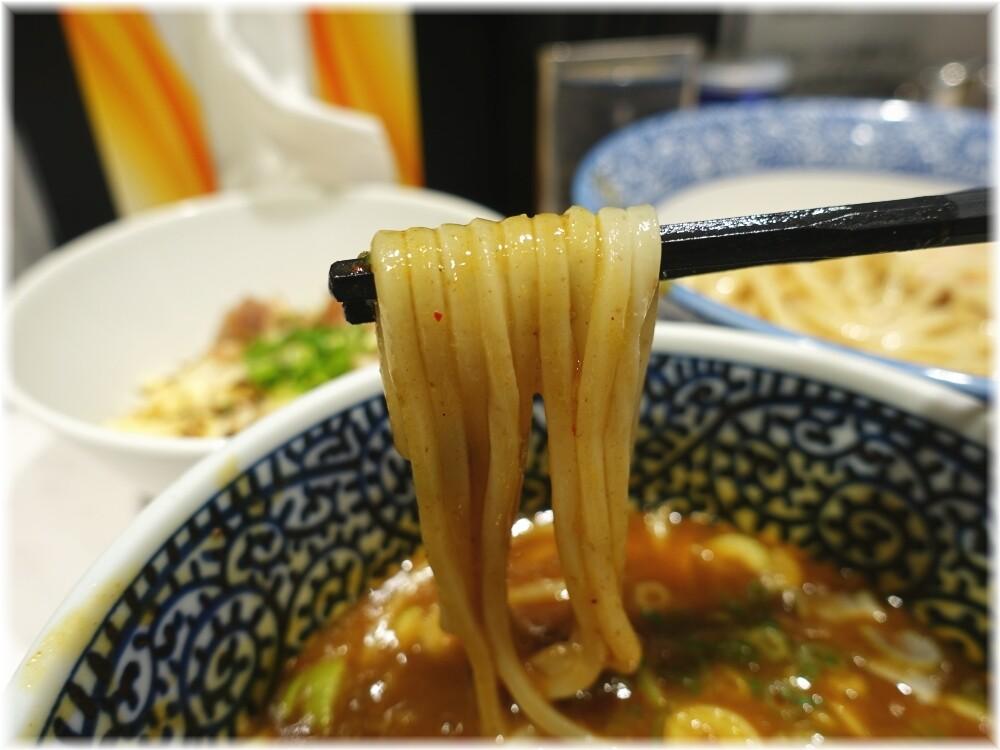 つけ麺一燈 サバカレーつけ麺の麺2