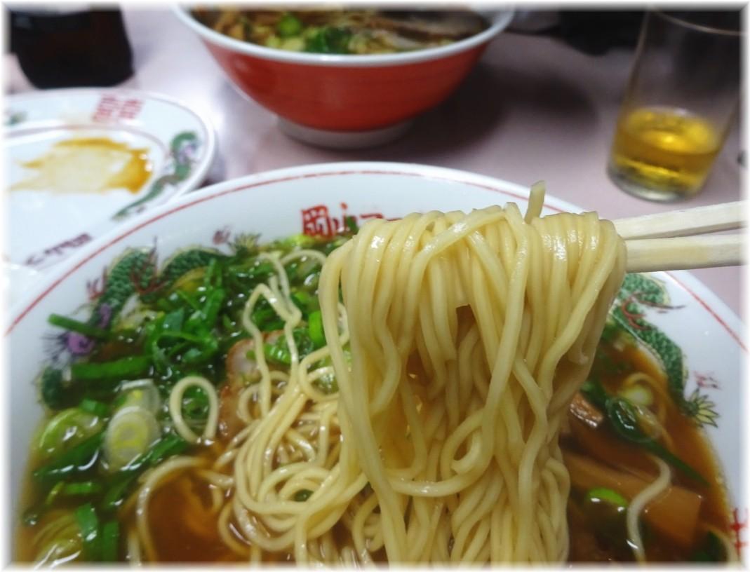 後楽本舗 ネギ中華の麺