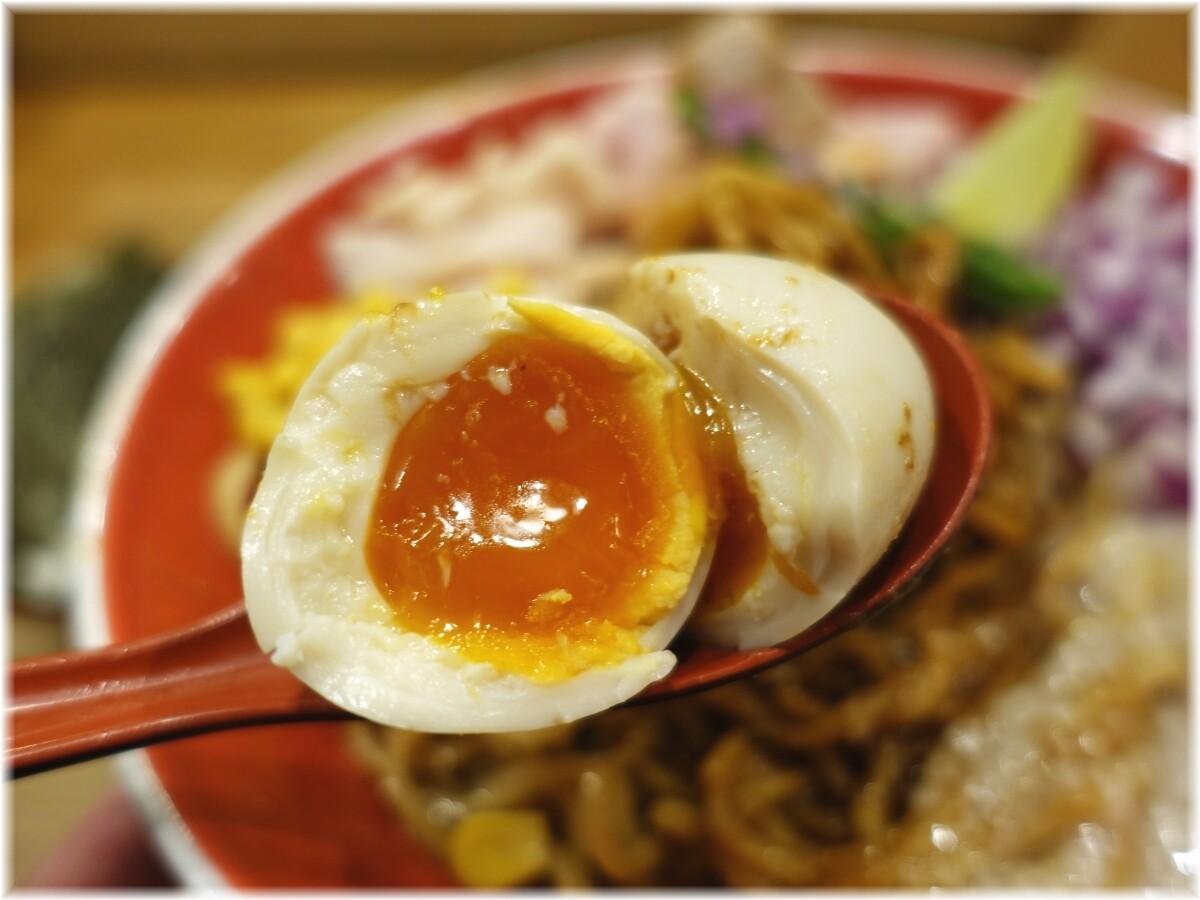 柿田川ひばり2 味噌和え麺の味玉