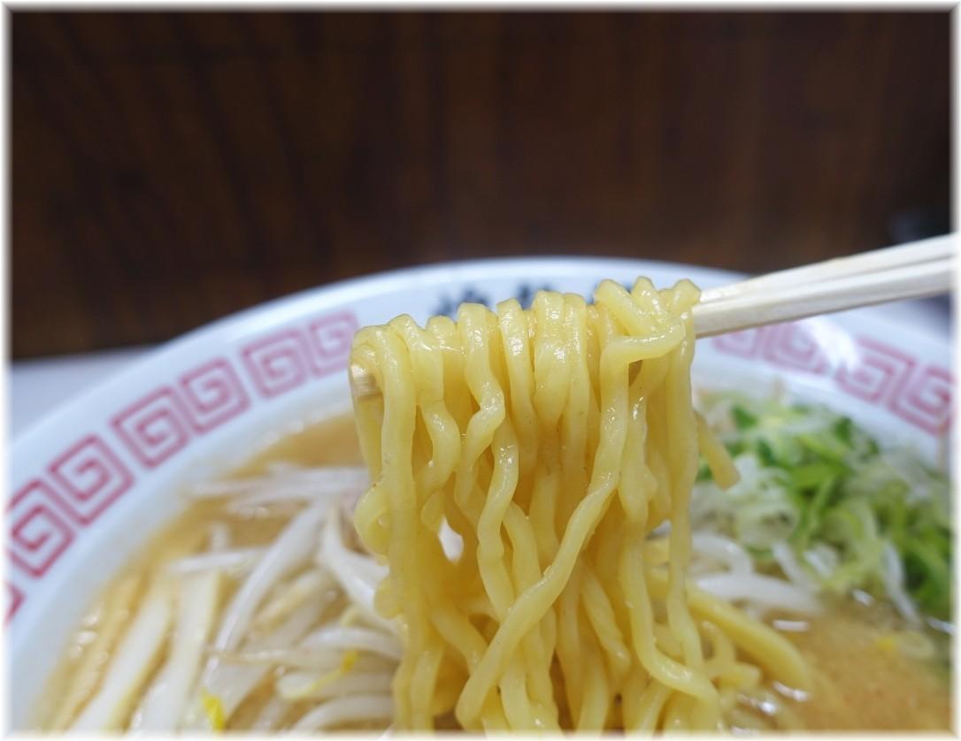 煌龍軒大森店 味噌ラーメンの麺