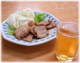 長浜ラーメン 呑龍 豚バラ塩焼き