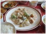 栄新楼 ホタテとブロッコリーの練りゴマ炒め