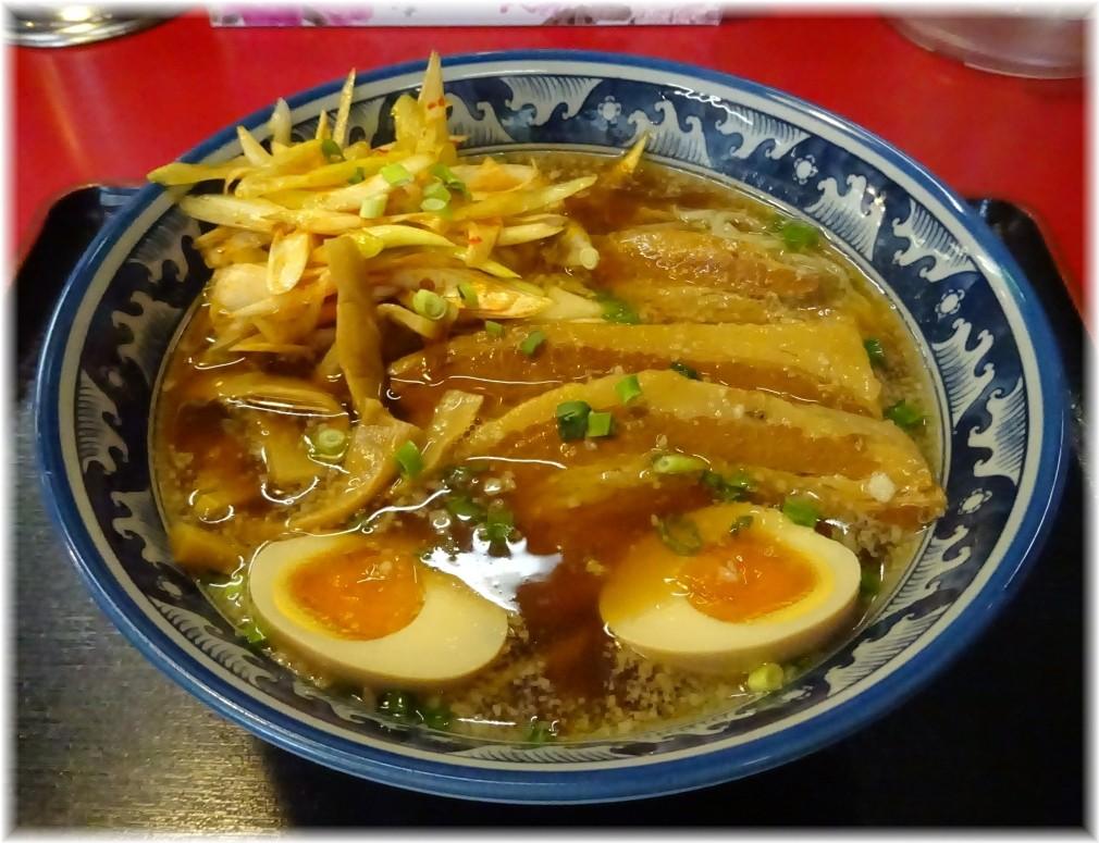 紺のれん鴻巣店 ねぎ豚らーめん(醤油)