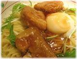 麺屋武蔵 武骨外伝 温玉肉餡かけつけそばの具と麺